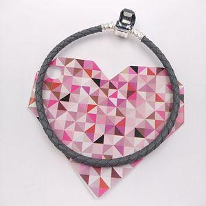 925 Momentos prata esterlina único tecido de couro pulseira - cinza único estilo europeu Pandora Jóias Encantos Beads feitas à mão 590705CSG-D