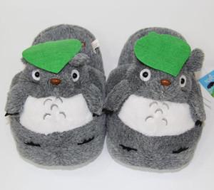 Hot Einzelhandel Totoro Slippers Grau Mein Nachbar Totoro Figuren Cartoon Plüsch Pantoffel 11inch totoro