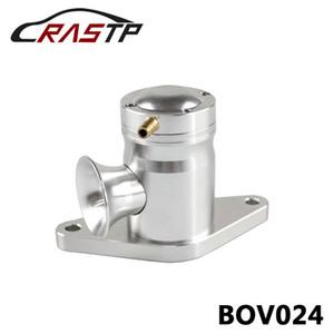 RASTP-New llegaron superior con perno de montaje Turbo BOV válvula de escape para Subaru WRX 02-07 EJ20 EJ25 / plata RS-BOV024