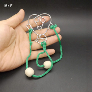 Monkey Face Wire Gadget Magic Trick Toy IQ Test Mind Game Toys Puzzle 3d Metal Teaching Aids Christmas Gifts