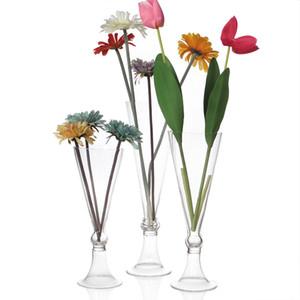 vasos de vidro bonito original peça central do casamento, eventos do partido encantadora decoração para flores, vasos de vidro altos para flores frescas