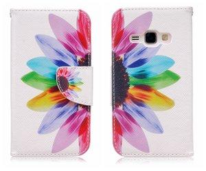 Flip capa para samsung galaxy j1 2016 ace mini case carteira cartão de couro de luxo modelado para galaxy j1 j120 j120f case