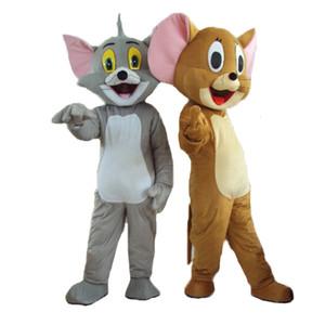 Tom et Jerry taille adulte costume de mascotte de la souris mascotte chat mascotte livraison gratuite