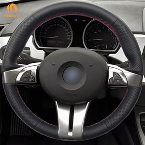 1 Fai da te Mewant nero e finta pelle Car Steering Wheel Cover per BMW Z4 2003 2004 2005