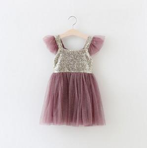 Girls Sequins princess dresses hot sell summer new children tulle tutu dress  girls Suspender Dress kids Christmas party dress 3584