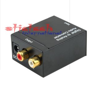 by dhl 50sets Digital to Analog Audio Converter Adapter Adaptador Optic Coaxial RCA Toslink Signal