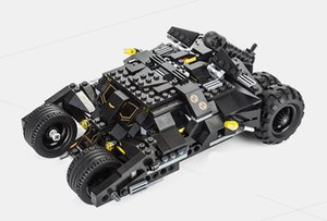Over 7105 super hero who assembled the batmobile building blocks The bat fancy toy car
