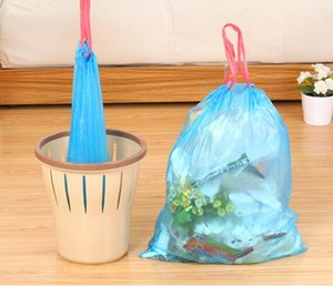 Household Close Garbage bag Drawstring Trash Bag Disposable Clear Rubbish bags for home 15pcs free shipping (7)