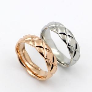 5.7mm in acciaio inossidabile 316L moda taglio croce maglia gioielli per donna uomo amante anelli 18 k color oro e rosa gioielli bijoux no have any logo