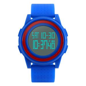SKMEI Men Women LED Digital Wristwatches Relogio Masculino Feminino Waterproof Sport Thin Fashion Simple Dial Mens Watch 1206