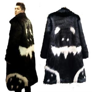 Al por mayor-Mens Real Abrigo de Piel de Imitación de Piel de Invierno Outwear Cazadora Ambos Hombres de Abrigo Punk Parka Chaquetas de Cuero abrigos enuine Fur