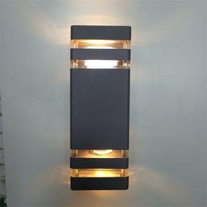 lámpara de pared para exteriores que ilumina hacia arriba y abajo la luz del soporte del porche a prueba de agua con 2 luces de doble cabezal, lámpara de pared hacia arriba y hacia abajo