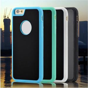 Sihirli Kılıf Iphone 7 6 6 S Artı NOTE5 Büyülü Anti yerçekimi Nano Emme Kapak Adsorbe araba Hard Case Kabuk Siyah