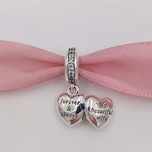 Valentinstag 925 Sterling Silber Perlen Meine schöne Frau Charme Fits European Pandora Stil Schmuck Armbänder 791524cz Heißer Valentines Geschenk