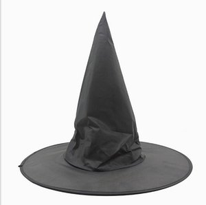 Adult Women Black Witch Hat For Halloween Costume Accessory Hot Sale Costume Party Props Harry Potter Cap kids cape hat