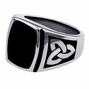 반지 스테인레스 스틸 블랙 반지 링 세트 멧돼지 반지 7-15 크기 17mm 남성용 무료 배송 결혼 반지