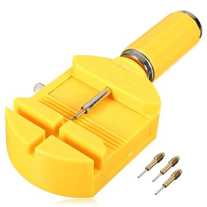 Gelb 28mm Uhr Link für Band Slit Strap Armband Kette Pin Remover Teller Repair Tool Kit + 3pcs Ersatzstifte