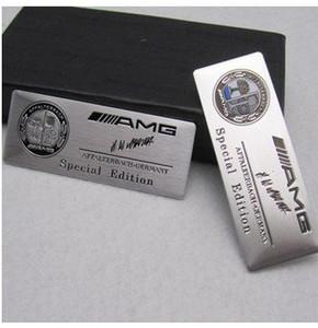 AMG 로고 용 자동차 스타일링 자동차 스티커 데칼은 메르세데스 벤츠 A / B / GLA / CLA 용 스티커 슬리버를 다시 디자인했습니다.