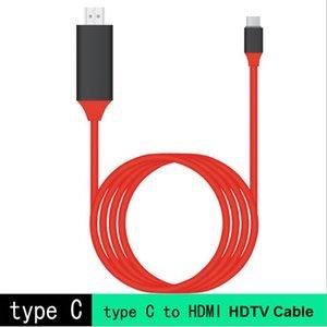2M USB-C Typ C zu HDMI-Video 4k * 2k UHD 60Hz HDTV-Kabel Plug & Play-HD-Display-Kabel für Galaxy S8 Macbook Laptop