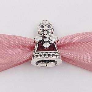 Noël Argent 925 Perles Mme charme de Noël Fits Bijoux Europe Style Pandora Bracelets Collier 792005EN07 Cadeaux d'hiver