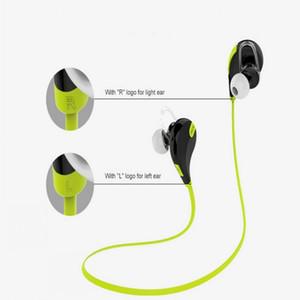 Banda para el cuello portátil Cancelación de ruido Deporte en auriculares Micrófono Running QY7 wireless bluetooth 4.1 auriculares Envío rápido
