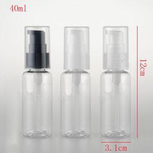 50 stücke, 40 ml Reisegröße Leere Händedesinfektionsmittel Flasche Nachfüllbare Mini Parfümflasche Kunststoffpumpe Shampoo Probe Kleine Flasche