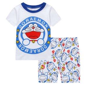 2018 новый дизайн лето дети детские пижамы костюмы мальчики пижамы дети пижамы девушки мультфильм с коротким рукавом пижамы свободный корабль S03