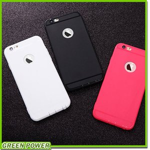 Dünner Silikon-Kasten für iphone 7 6 6s 5 5s Abdeckung Süßigkeit-Farben-weichen 065mm TPU Matttelefon-Kasten Shell mit Staubkappe für Apple iphone 7 Plus