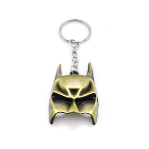 슈퍼 히어로 Euramerican 스타일 어벤져 시리즈 Moives 테마 배트맨 키 체인 키 악세사리 키 홀더 남성 선물 선물 마스크
