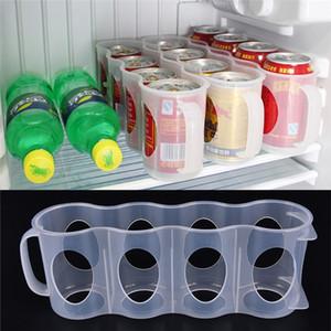 Smart Design Kühlschrank-Aufbewahrungsbehälter Küchenzubehör Kühlschrank Getränkedose Platzsparender Cans Finishing Kühlschrank Organizer