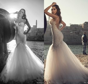2017 Stunning Julie Vino Mermaid abiti da sposa Sexy Spaghetti cinghie Backless Lace Wedding Dress Beach Wedding Party
