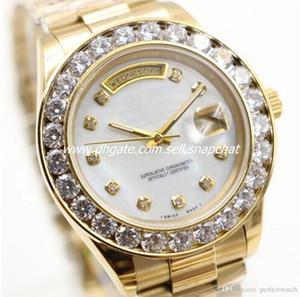 Nouveau Président Day Date or 18 carats Perpetual mode mens watch Grand diamant lunette en or en acier inoxydable bracelet original Automatique montre