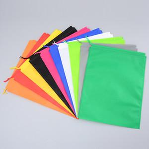Colorido no tejido Bolsas de lazo para los zapatos Bolsa de almacenamiento de ropa Paquete de viaje Organizador Bolsa de asas portátil IC878