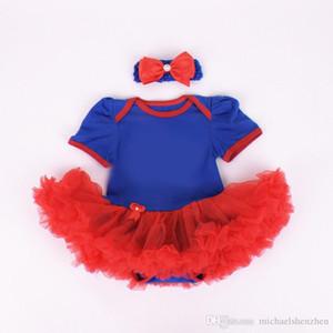 어린이 복수 자 짧은 소매 투투 rompers 드레스 + 활 머리띠 새로운 만화 소녀 만화 아기 rompers 드레스 C001