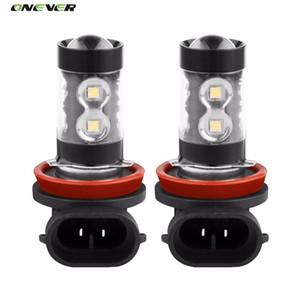 2Pcs CREE LED Puces H11 Phares antibrouillard Ampoules de phare haute puissance au xénon Blanc 12V 50W 6000K DRL Lumière de conduite Lumière diurne