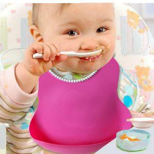 طفل رضيع أطفال لطيف المرايل الغداء المرايل الوليد الأطفال للماء منشفة قابل للغسل تغذية سيليكون تجشؤ 0-6 سنوات
