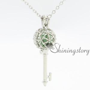 Schlüssel Diffusor Halskette Schmuck Medaillons Oval Medaillon Halskette Medaillons für Frauen online
