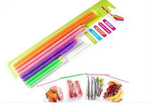 10 set Magic Bag Sealer Stick Unique baguettes d'étanchéité Grande aide pour le stockage des aliments Joint d'étanchéité clip pince d'étanchéité A031