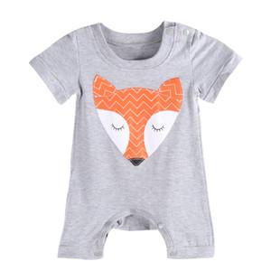 Costume bambini Toddler baby ragazzi ragazze pagliaccetti ragazzi ragazze tuta neonato più nuovo fashiion volpe stampa animale colore grigio vendita calda 2016