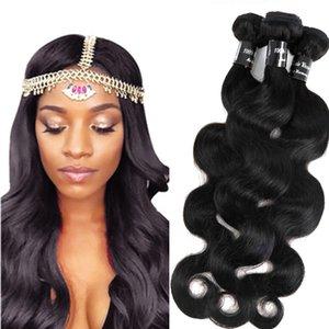Пучки волос девственницы из Камбоджи Бразильские человеческие волосы плетут утки объемной волны необработанные индийские малайзийские перуанские волосы человека Remy