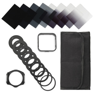 Freeshipping 20in1 Neutre Densité Complete ND 2 4 8 16 Kit de filtre pour Cokin P Set Holder + Adaptateur large + Pare-soleil LF292 DSLR SLR