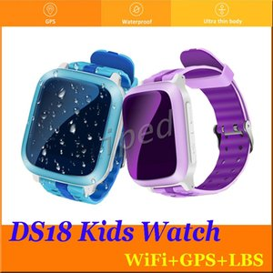 Rastreador GPS Relógio Inteligente DS18 Para Crianças SOS de Emergência Anti-Perdido GPRS / GSM / WiFi / SOS Crianças Seguro Relógio de Pulso Monitor Remoto Posição DHL 10 pcs