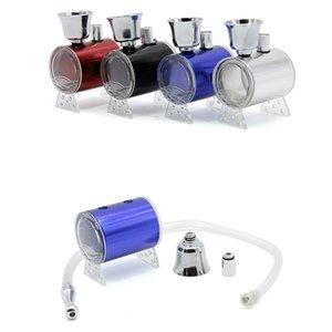 Mini Kunststoff Shisha Bong mit Pfeife Rauchen Pipes Wasserpfeife vier Farben für Tabacoo Herbal mit Retail-Box