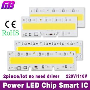 Atacado-2piece / lot LED High Power chips de luz 30W 50W 70W 100W 120W 150W 110V 220V Entrada IP65 IC inteligente para DIY LED Sport Light