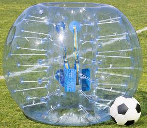 Bola de futebol abundante inflável da bola de futebol de Zorbing da bolha do corpo do futebol de 1.5m 0.8mm Bouncer