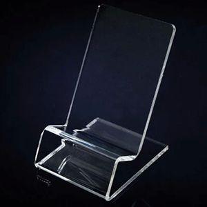 عرض الهواتف النقالة Acrylic الهاتف المحمول يقف حامل يقف لـ 6inch iphone samsung HTC xiaomi huawei sony good sell