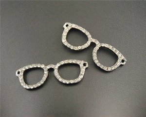 4pcs 실버 매력 에나멜 선글라스 참 펜던트가 팔찌 목걸이에 적합 DIY Jewelry Making