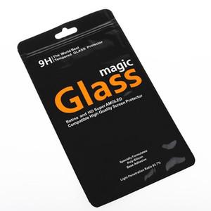100 pcs PVC sur mesure pour l'emballage d'emballage universel de détail en verre trempé Sacs pour écran de protection pour iPhone X 7 plus