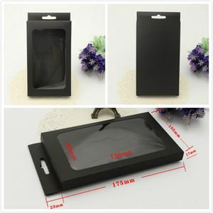 Universal Kraft black Paper Retail Package scatole di imballaggio per cassa del telefono iPhone 5S 6 6s PLUS Samsung Galaxy S7 S6 bordo OEM