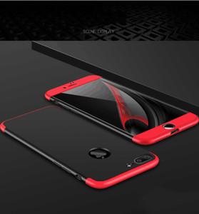 Luxe Pour iPhone 7 Plus 360 Degrés Cas! Mode Mince Dur PC Placage Corps Complet Cas Pour iPhone 6 6 s plus 7 7 Plus + Verre Clair Film En Gros